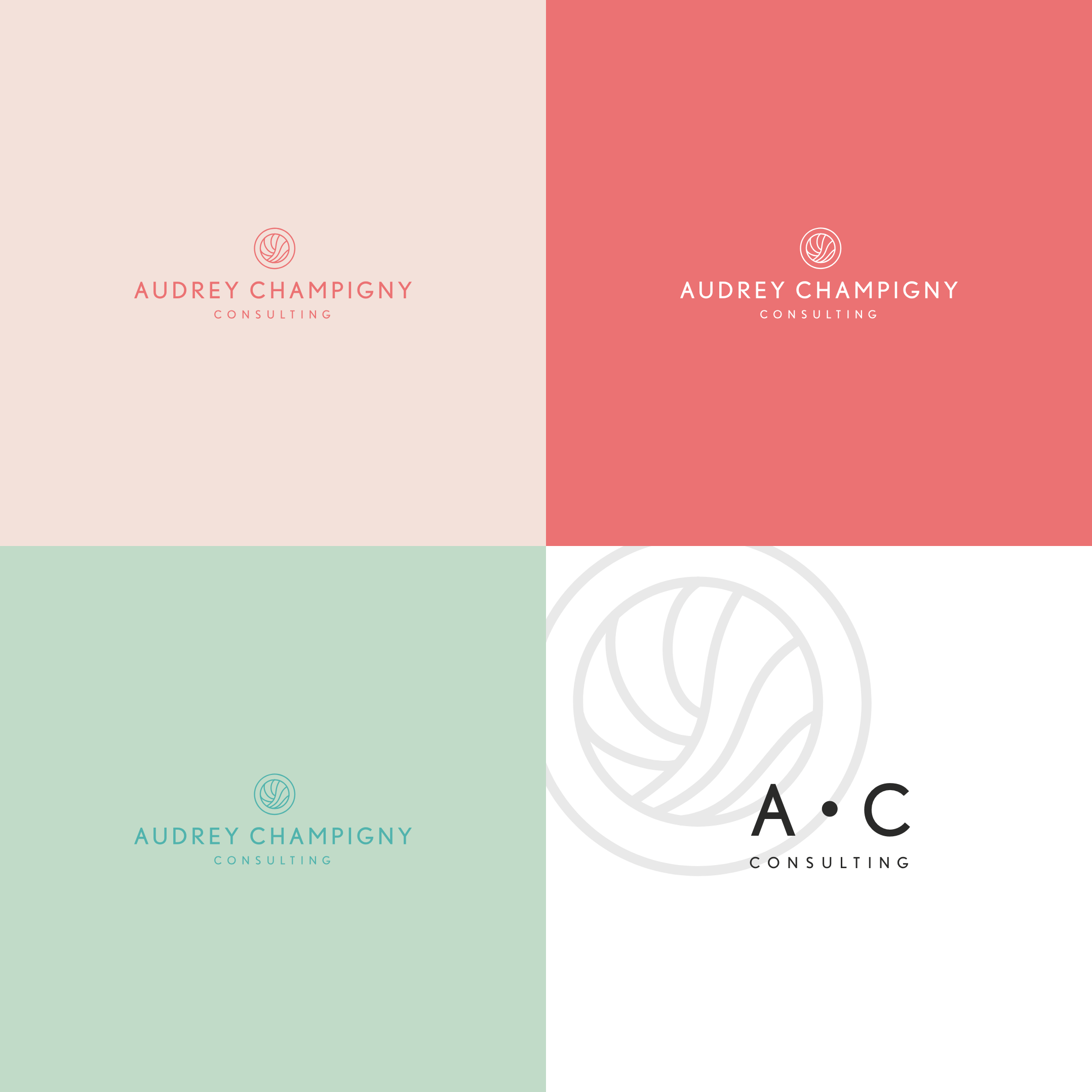 Les versions alternatives du logo Audrey Champigny Consulting