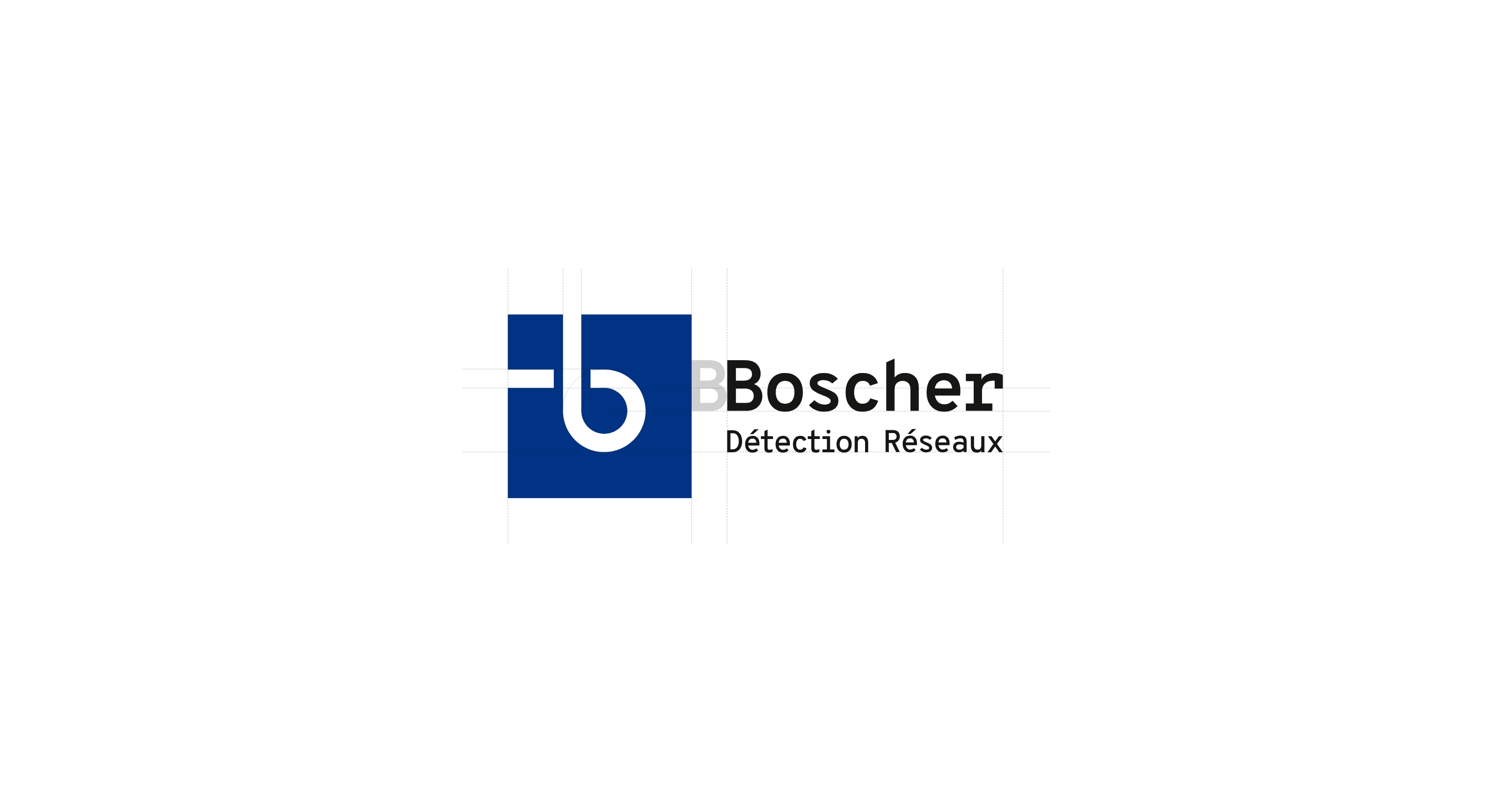 Le logo Boscher Détection Réseaux
