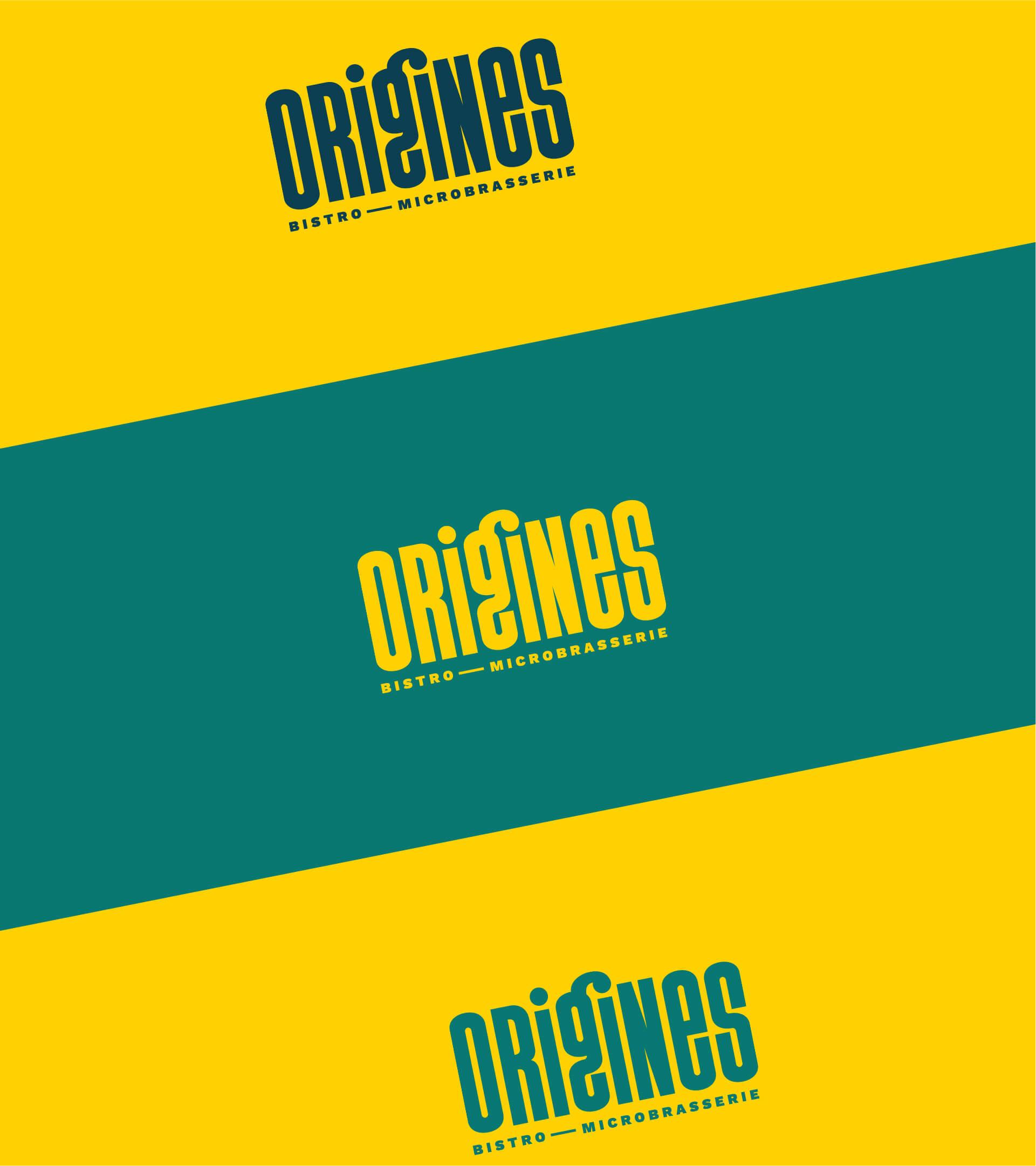 Déclinaisons couleurs du logo Origines
